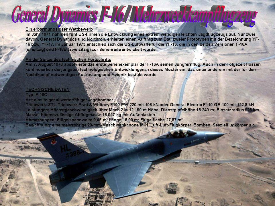General Dynamics F-16 / Mehrzweckkampfflugzeug