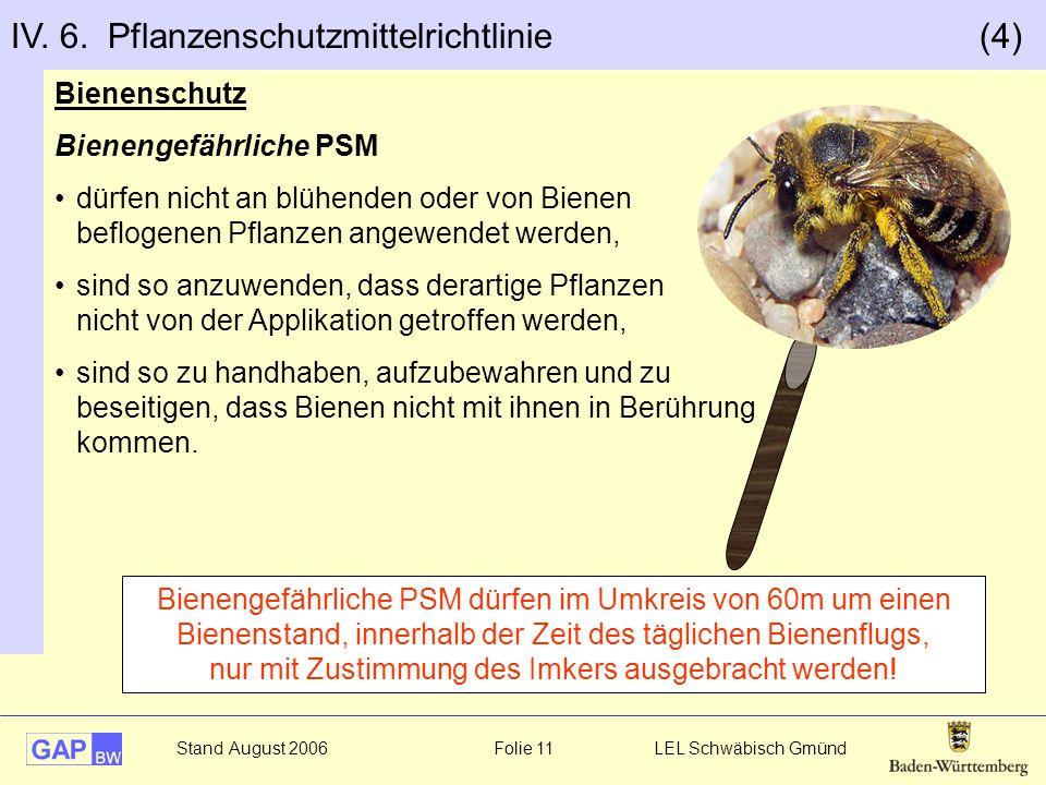 IV. 6. Pflanzenschutzmittelrichtlinie (4)