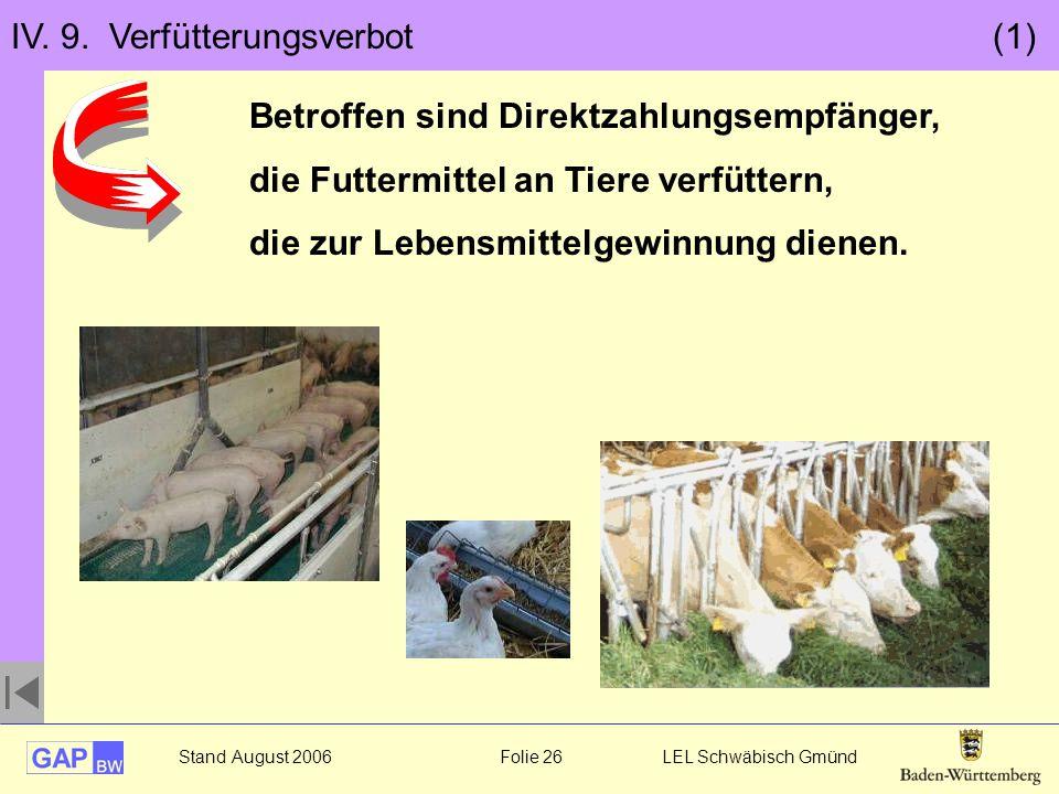 IV. 9. Verfütterungsverbot (1)