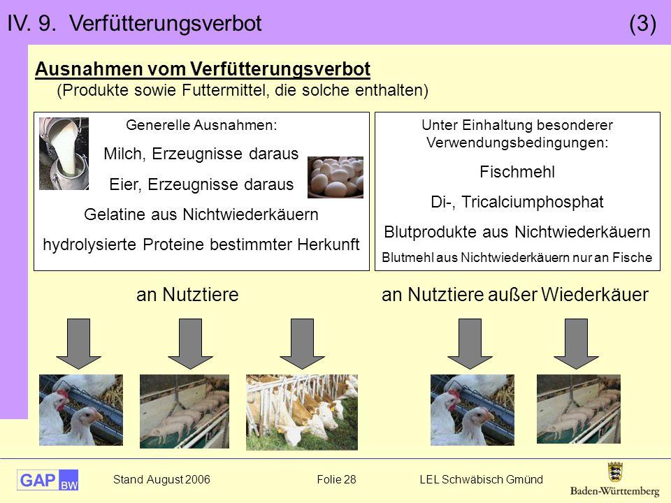 IV. 9. Verfütterungsverbot (3)