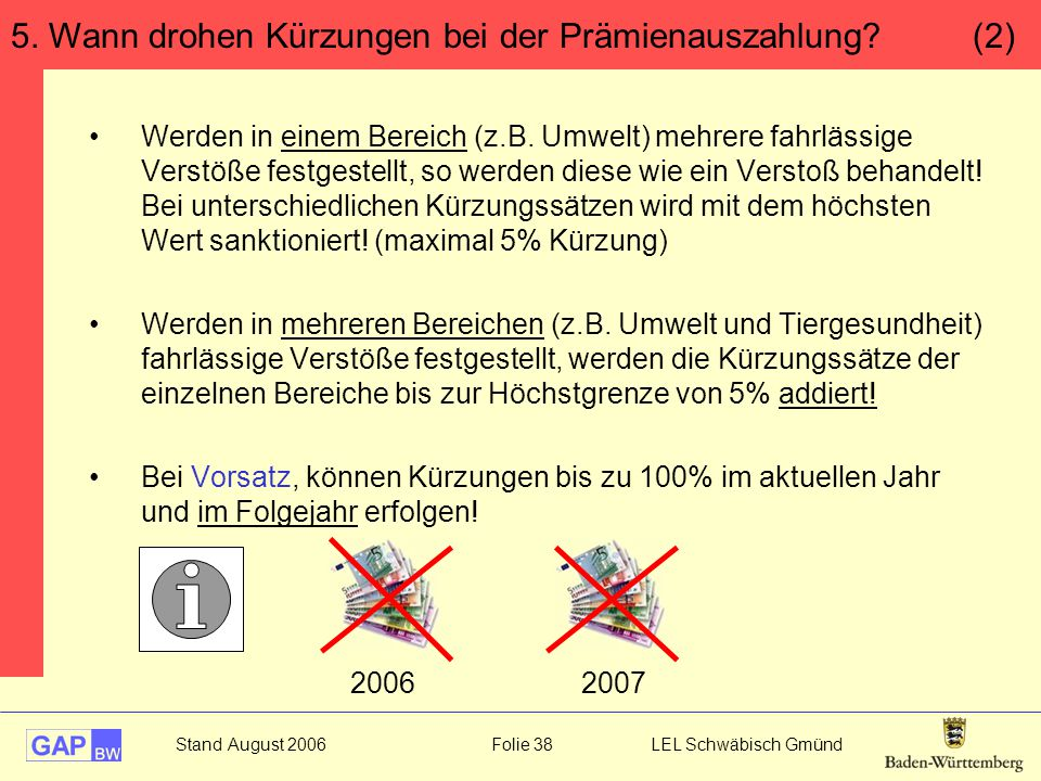5. Wann drohen Kürzungen bei der Prämienauszahlung (2)