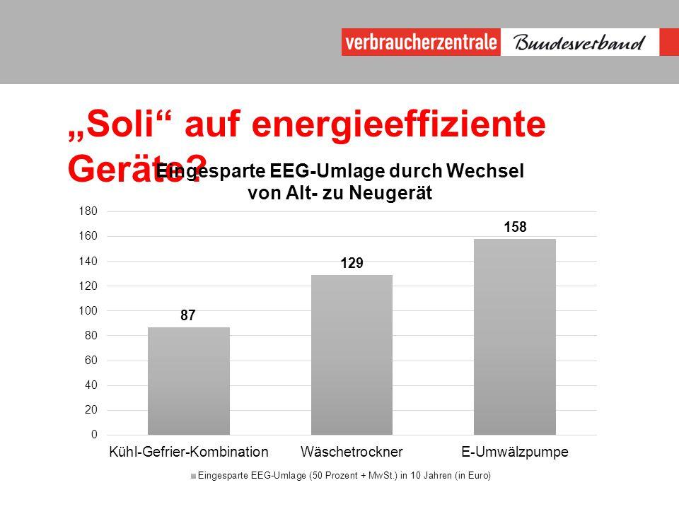 """""""Soli auf energieeffiziente Geräte"""