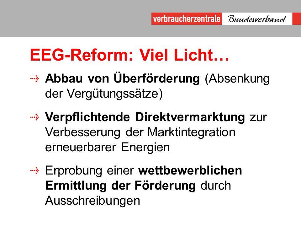 EEG-Reform: Viel Licht…