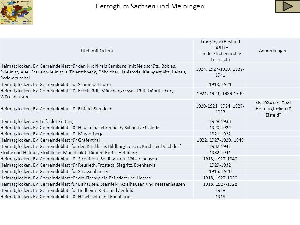 Herzogtum Sachsen und Meiningen