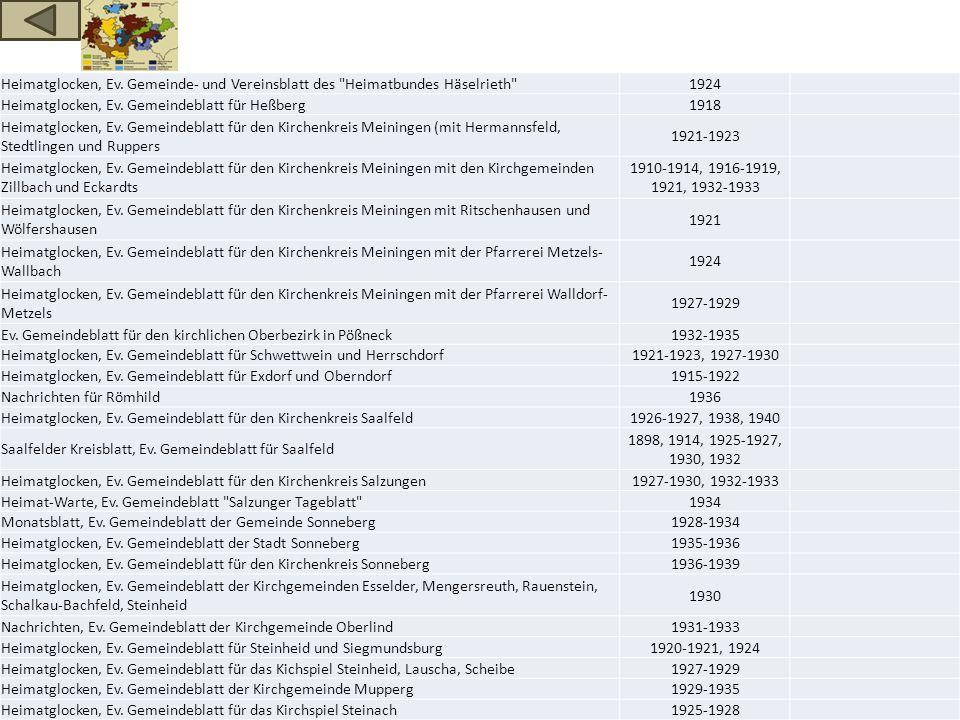 Heimatglocken, Ev. Gemeinde- und Vereinsblatt des Heimatbundes Häselrieth