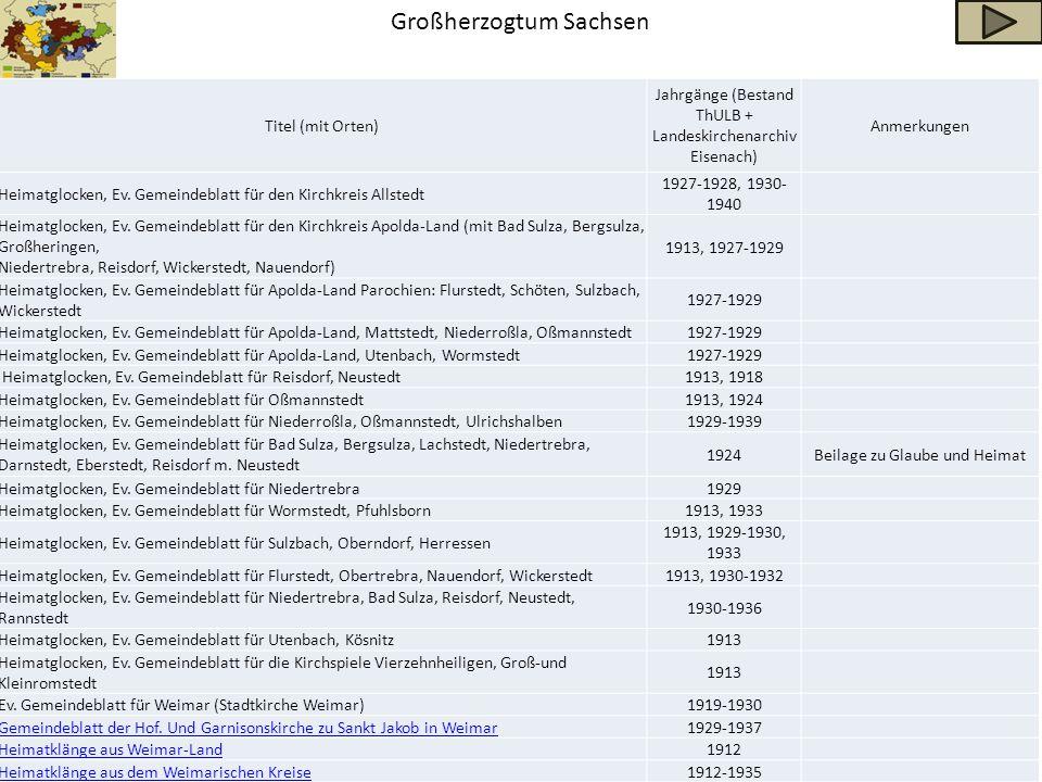 Großherzogtum Sachsen