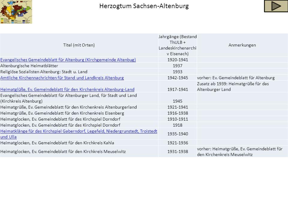 Herzogtum Sachsen-Altenburg