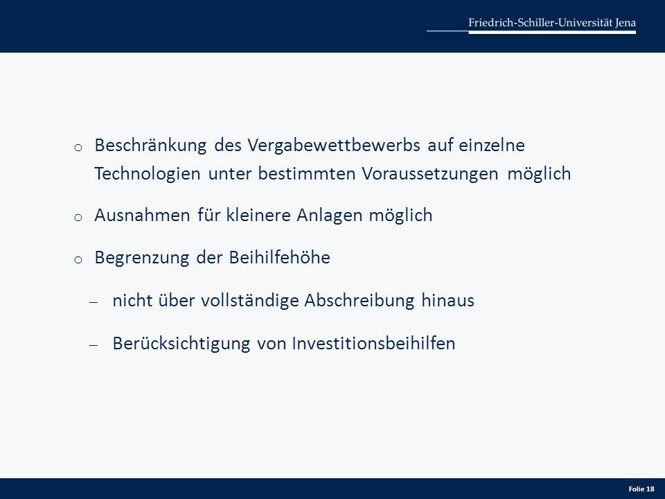 Beschränkung des Vergabewettbewerbs auf einzelne Technologien unter bestimmten Voraussetzungen möglich