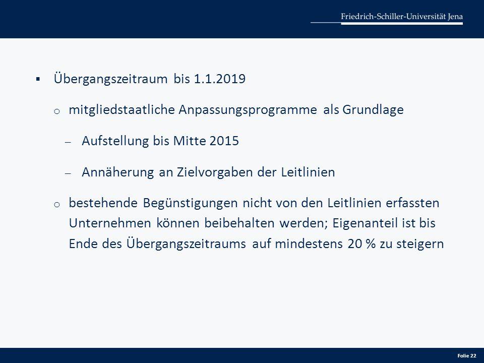 Übergangszeitraum bis 1.1.2019
