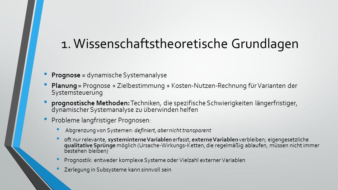 1. Wissenschaftstheoretische Grundlagen