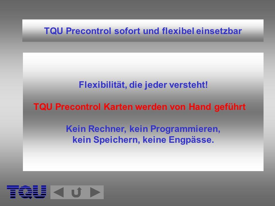 TQU Precontrol sofort und flexibel einsetzbar