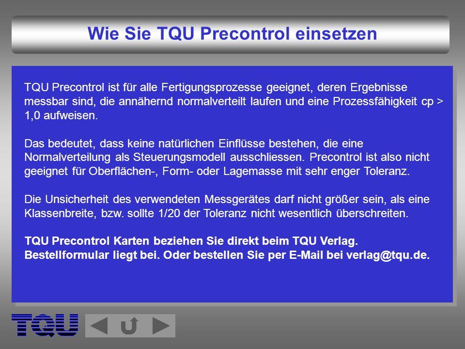 Wie Sie TQU Precontrol einsetzen