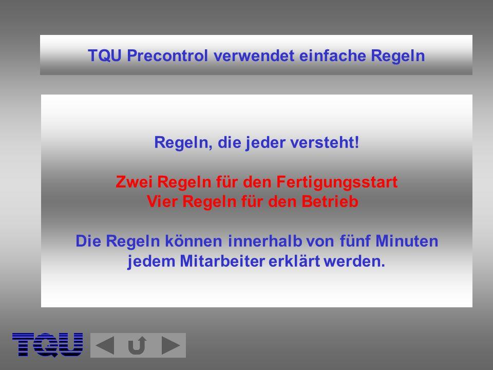 TQU Precontrol verwendet einfache Regeln