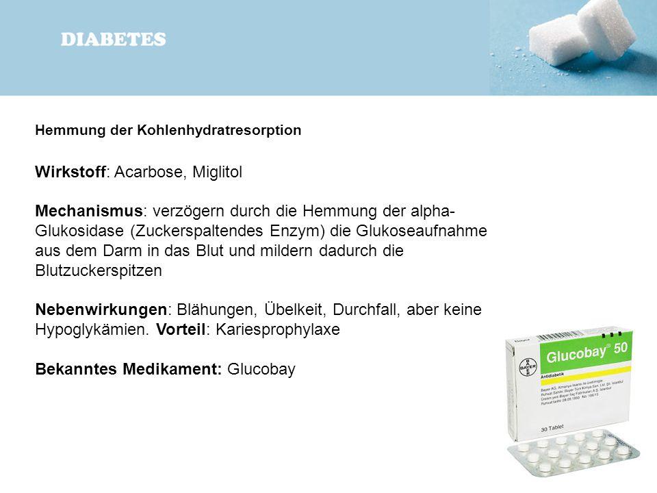 Wirkstoff: Acarbose, Miglitol