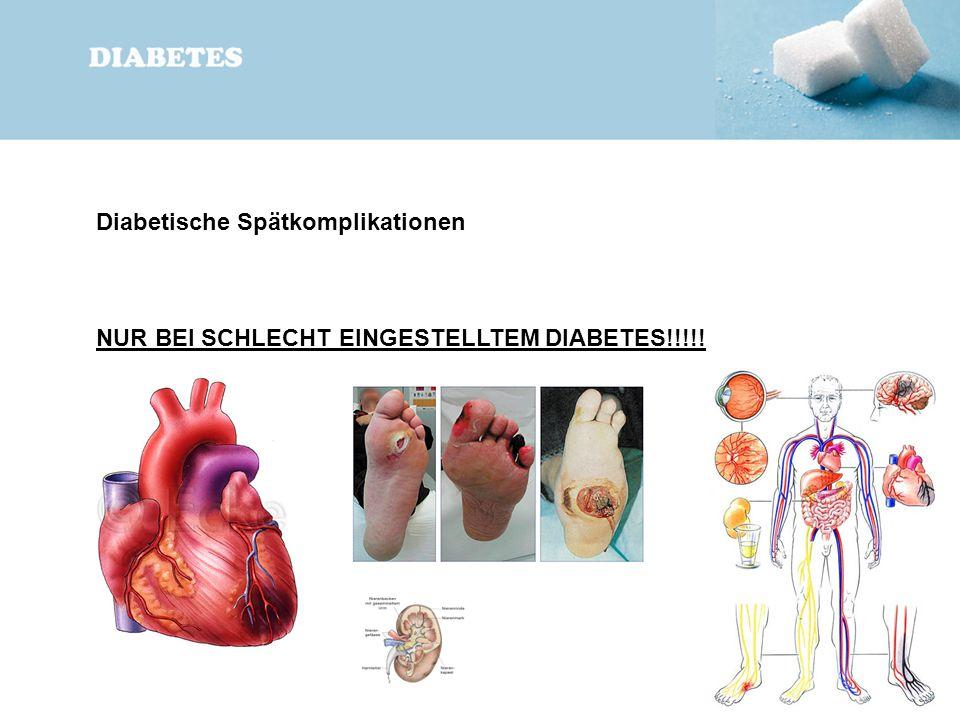 Diabetische Spätkomplikationen