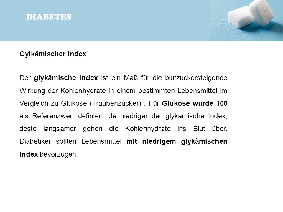 Gylkämischer Index