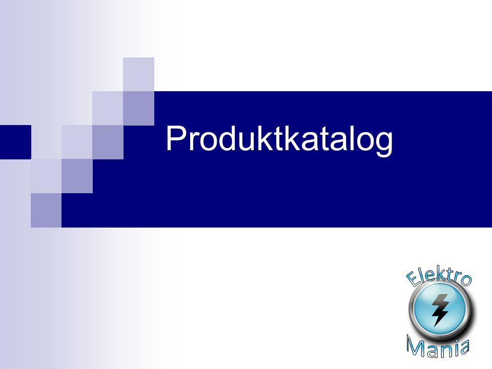 Produktkatalog Elektro Mania