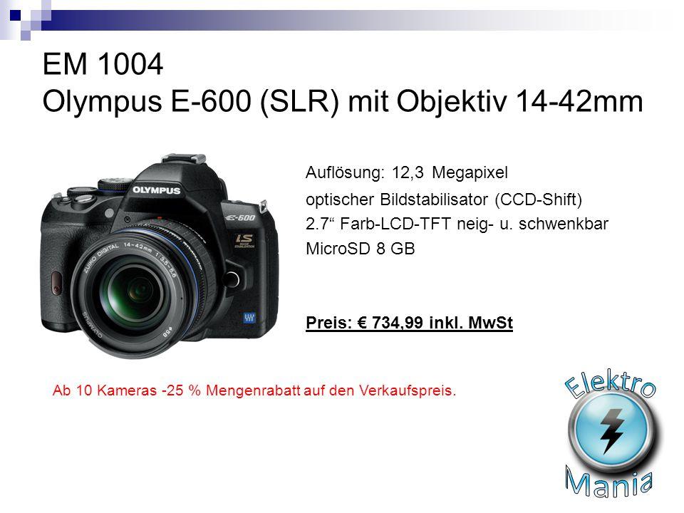 EM 1004 Olympus E-600 (SLR) mit Objektiv 14-42mm