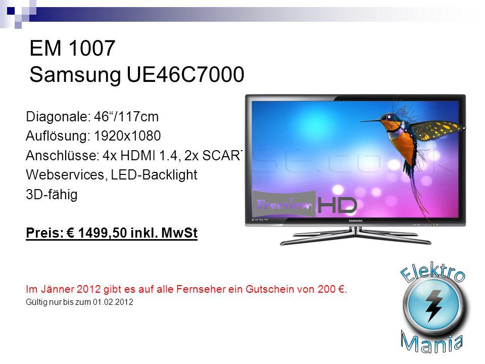Elektro Mania EM 1007 Samsung UE46C7000 Diagonale: 46 /117cm