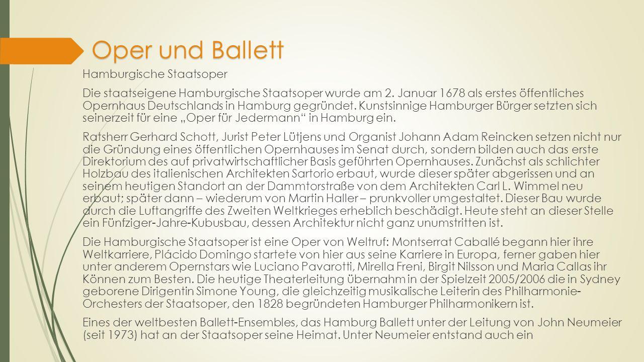 Oper und Ballett