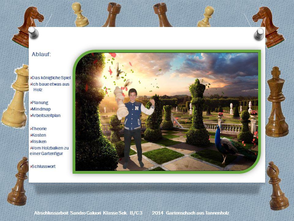Ablauf: Das königliche Spiel Ich baue etwas aus Holz Planung Mindmap