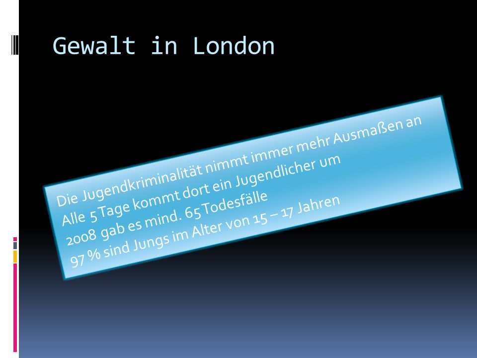 Gewalt in London