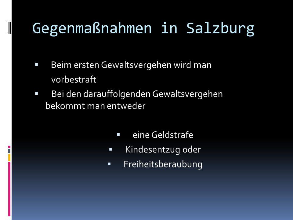 Gegenmaßnahmen in Salzburg