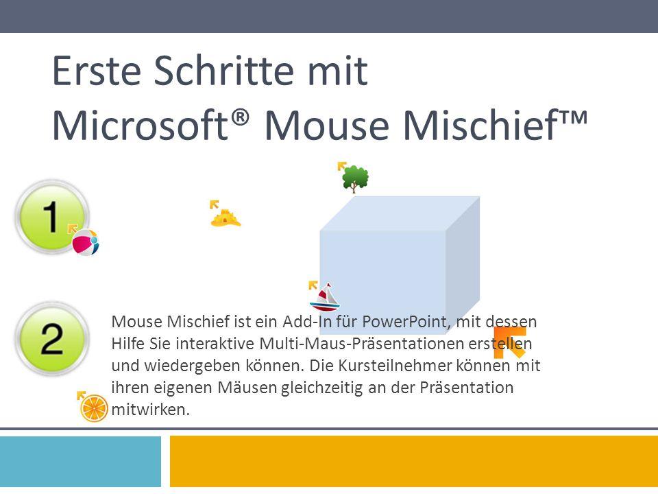 Erste Schritte mit Microsoft® Mouse Mischief™