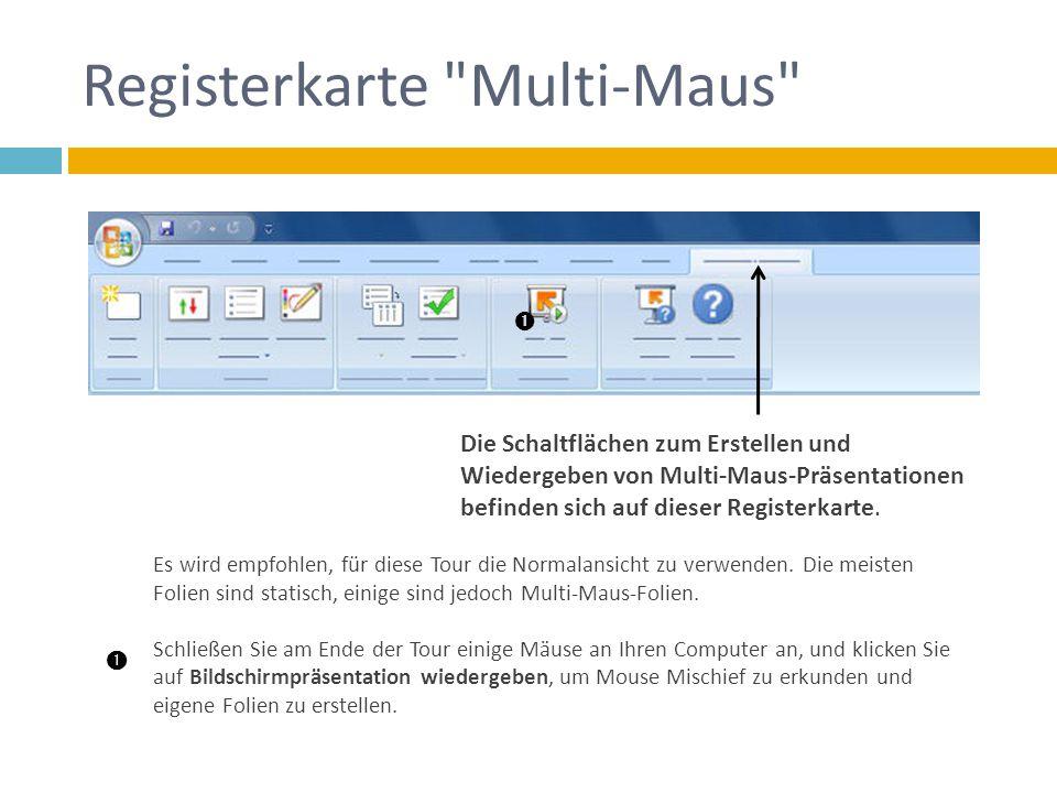 Registerkarte Multi-Maus