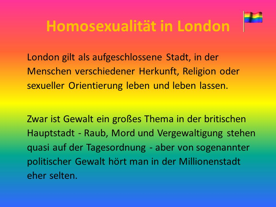 Homosexualität in London