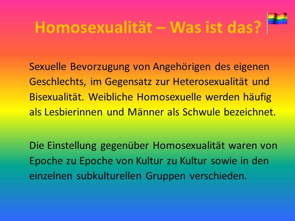 Homosexualität – Was ist das