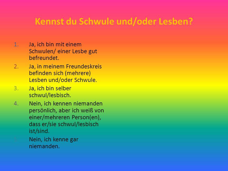 Kennst du Schwule und/oder Lesben