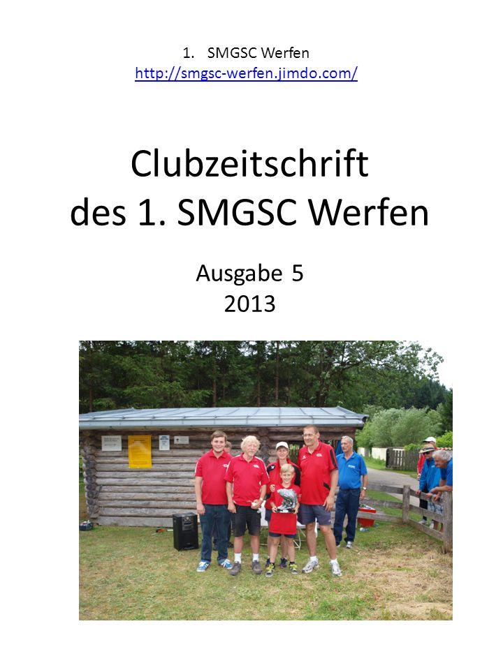 Clubzeitschrift des 1. SMGSC Werfen Ausgabe 5 2013
