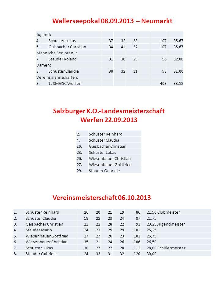 Wallerseepokal 08.09.2013 – Neumarkt