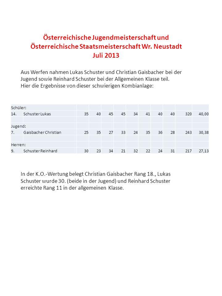 Österreichische Jugendmeisterschaft und Österreichische Staatsmeisterschaft Wr. Neustadt