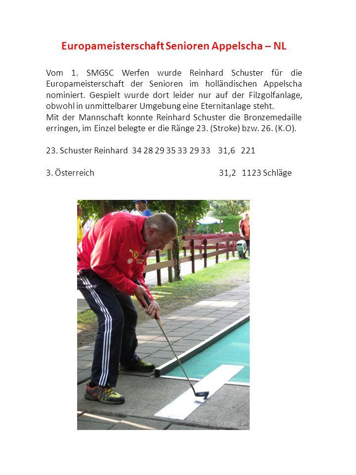 Europameisterschaft Senioren Appelscha – NL