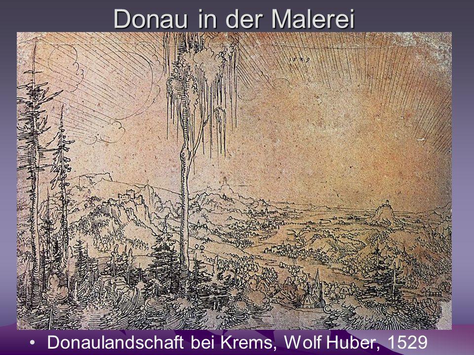 Donau in der Malerei Donaulandschaft bei Krems, Wolf Huber, 1529