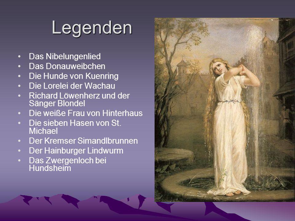Legenden Das Nibelungenlied Das Donauweibchen Die Hunde von Kuenring