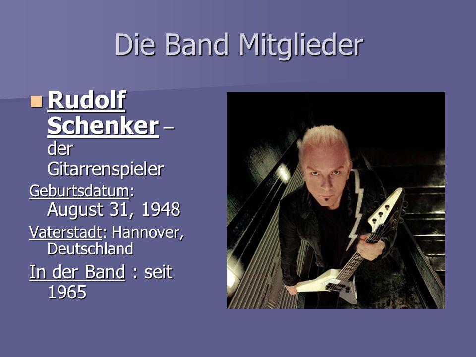 Die Band Mitglieder Rudolf Schenker – der Gitarrenspieler