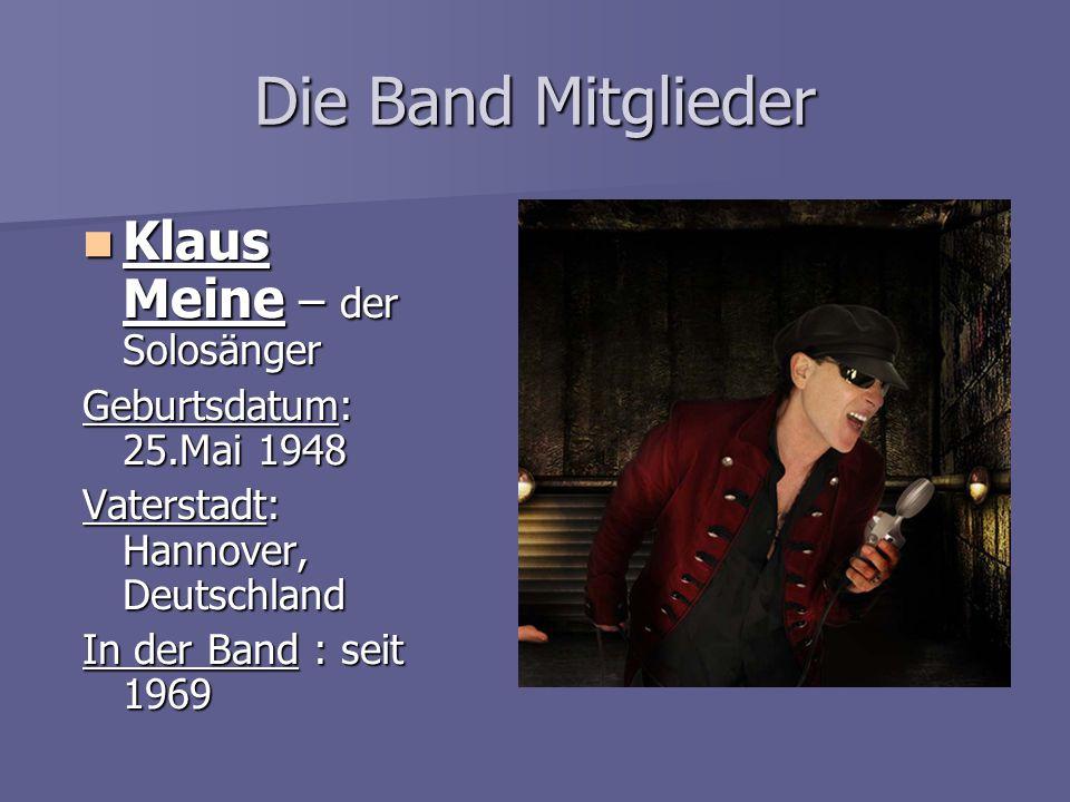 Die Band Mitglieder Klaus Meine – der Solosänger