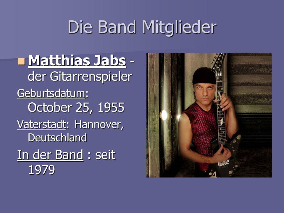 Die Band Mitglieder Matthias Jabs - der Gitarrenspieler