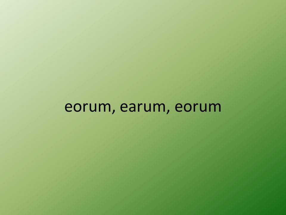 eorum, earum, eorum