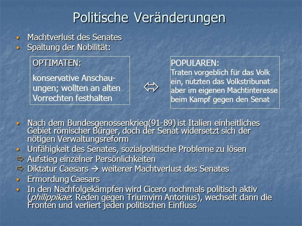 Politische Veränderungen
