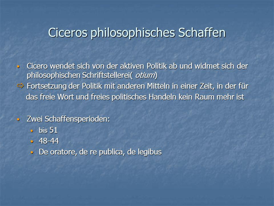 Ciceros philosophisches Schaffen