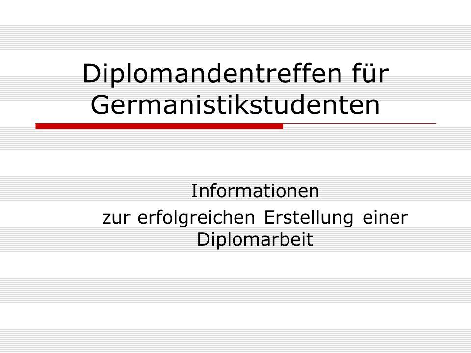 Diplomandentreffen für Germanistikstudenten