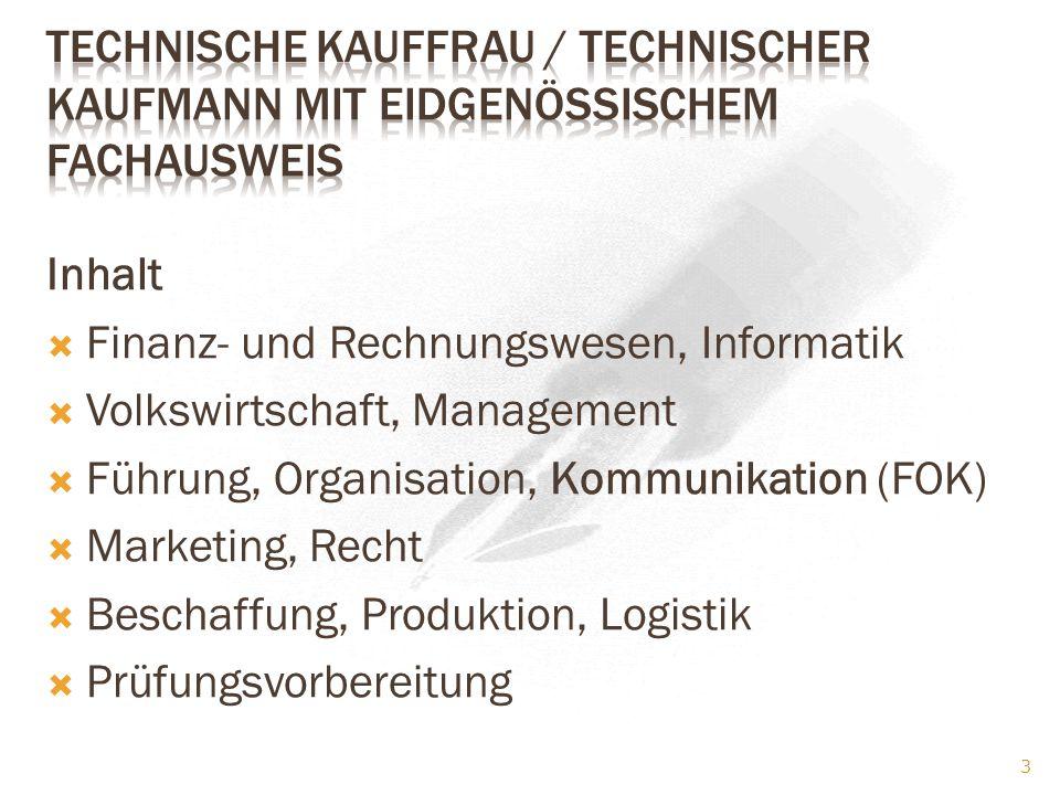 Technische Kauffrau / Technischer Kaufmann mit eidgenössischem Fachausweis