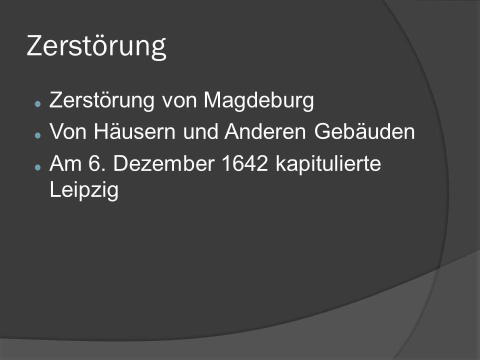 Zerstörung Zerstörung von Magdeburg Von Häusern und Anderen Gebäuden