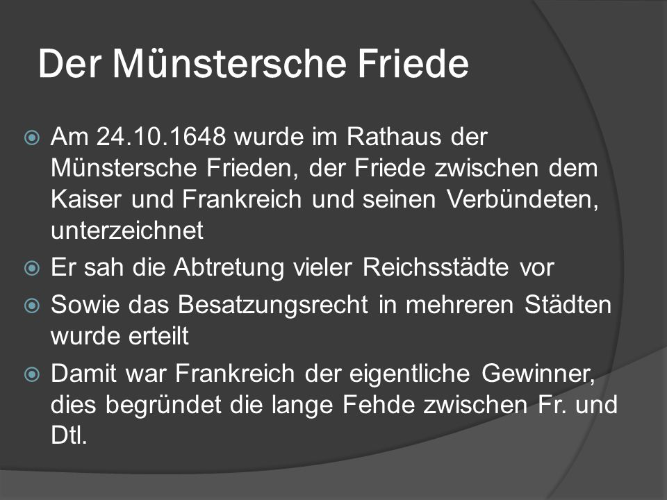 Der Münstersche Friede