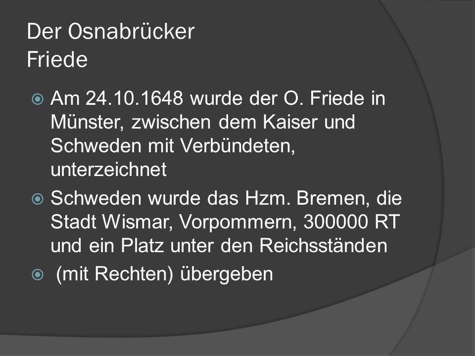 Der Osnabrücker Friede