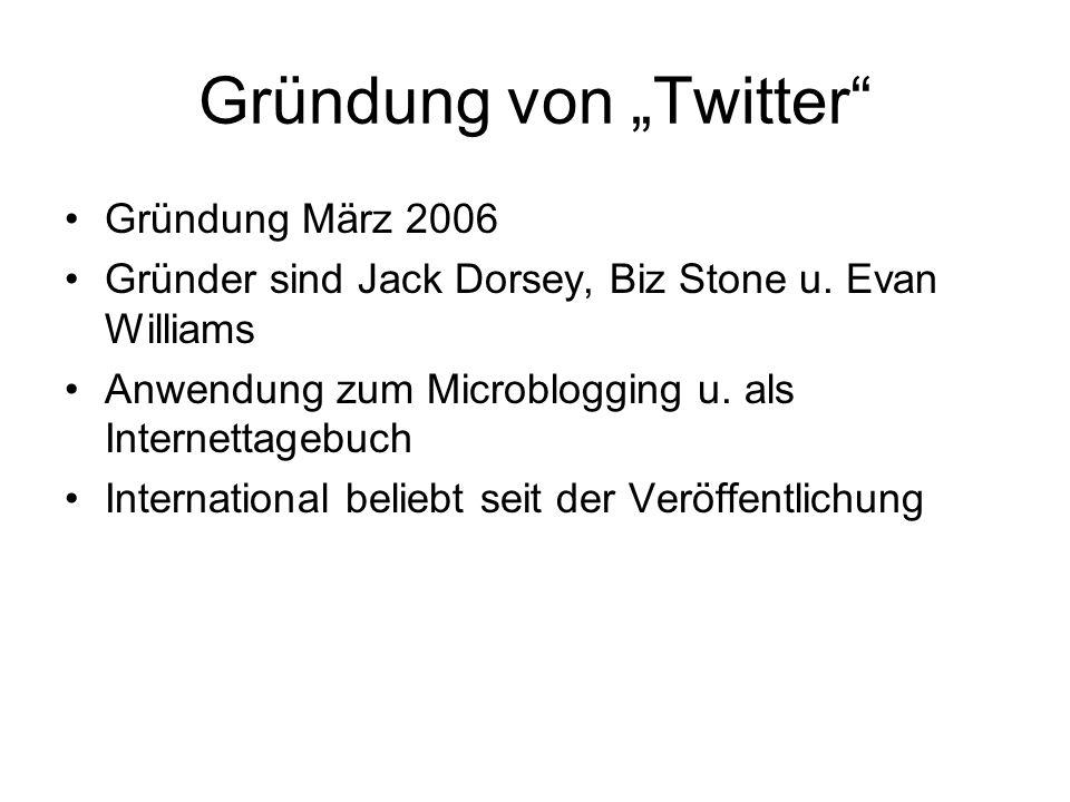 """Gründung von """"Twitter"""